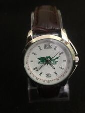 Men's Bonica Green Bay Packers Wrist Watch,35 mm Case Brown Leather Band. B65