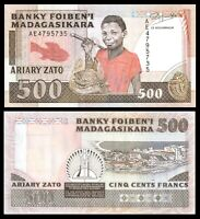 Madagascar 500 francs 1988 - 1993 P 71 UNC ***