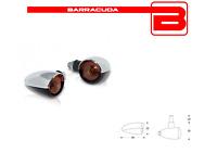BARRACUDA FRECCE LAMPADA FONZIE CROMATE OMOLOGATE per MOTO GUZZI V7/V9/V11/V35