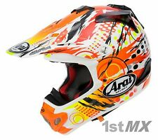 Arai MXV Scratch Yellow Orange Motocross Offroad Helmet Adults Large 59-60cm