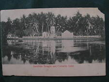 Postcard Ceylon Buddhist Temple and Colombo Lake Early 1900