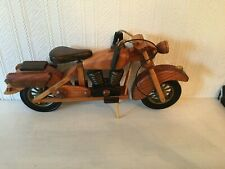 LOVELY WOODEN MOTORBIKE, LOTS OF DETAIL. FOR DECORATION ONLY NOT FOR CHILDREN.