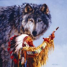 Jigsaw puzzle Ethnic Native American Spirit of the Wolf 500 piece NEW Made USA