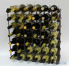 Cranville wine rack storage 42 bottle dark oak stain wood and metal self build
