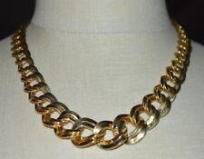 MONET Chain Link Graduated Choker Gold Tone Vintage Necklace