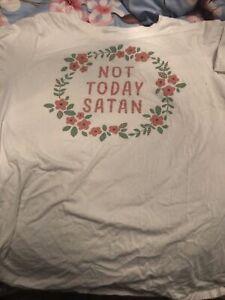 Not Today Satan Shirt X-Large Soft Comfy Material 100% Cotton Funny Shirt