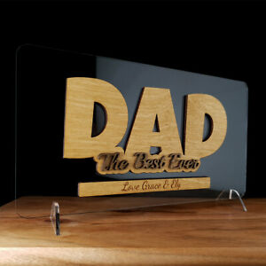Personalised the best ever dad free standing sign fathers day gift