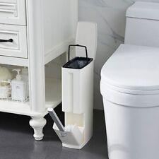 Trash Can Set with Toilet Brush Bathroom Waste Bin Dustbin Trash Cans Garbage 6L