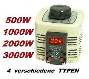 Ringkerntransformator Ringkerntrafo Stelltrafo Regeltrafo 500 Watt Trafo 2A