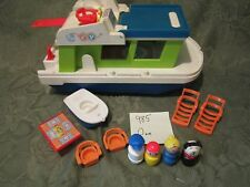 VTG Fisher Price Little People play family House Boat 985 grill boat dog mom D