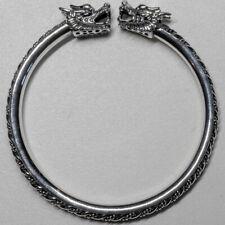 Dragon Bangle .925 silver torc wristband biker Gothic viking GOT feeanddave
