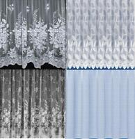 GREAT VALUE WHITE NET CURTAINS ~ 5 NET DESIGNS - FREE POSTAGE