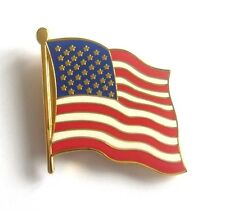 """DRAPEAU UNITED STATES """"Flottant"""" (Badge émail / Pins)"""