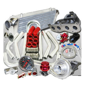 Complete T3/T4 Turbo Kit for 08-11 Scion xB Base Wagon 5D 2AZ-FD I4 2.4L DOHC EN