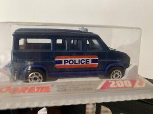 Majorette Serie 200 Fourgon Police Bleu Interieur Bleu Rare