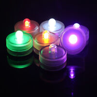 10pcs Mini LED Candle Light Waterproof Round Tea Lights Wedding Party Decoration
