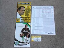 2005 Columbus Crew SC Soccer Programs Lineup Sheet Ticket Stub Robert Warzycha