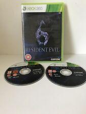Resident Evil 6 (Microsoft Xbox 360, 2012) manquant livret