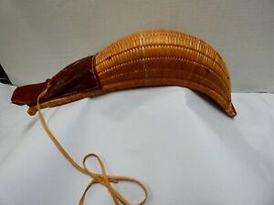 Jai Alai Wicker Rattan Leather Glove Vintage
