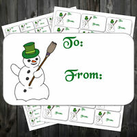 Christmas Stickers Labels Adhesive Self Adhesive 21 Or 65 Per Sheet