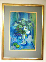 SOL CALVIN COHEN (1930-2004) FLORAL STILL LIFE MODERNIST PAINTING