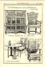 1908 South Kensington Old Furniture Jacobean Chest Oak Table