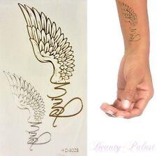 Una volta Tatuaggio ORO ARGENTO TEMPORARY TATTOO wtemporäre TATUAGGI ADESIVI hc5