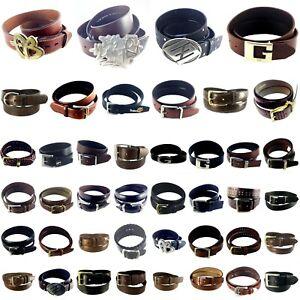 Brand Name (G-3) Belts, Assorted Designer, Dress-Up, Men Leather Belts