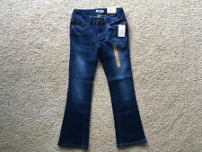 NWT Girls' Mudd Skinny Bootcut Adjustable Waist Super Stretchy Jeans Size 7