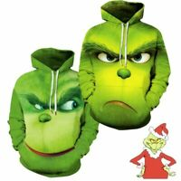 Rascal Green Monster The Grinch Men's Hoodie Jacket Shirts Cosplay Custume Xmas