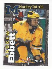 2004-05 Michigan Wolverines (CCHA) Andrew Ebbett (Bern)