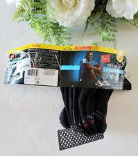 Hanes Premium Men's Ventilation No-Show Socks 4 Pack Shoe Size 6-12 Black