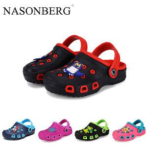 Kinder Clogs Sandalen Sommer Leicht Schuhe Hausschuhe Badeschuhe Gartenschuhe DE