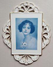 Portrait Porzellanbild einer jungen Frau, Foto Technik um 1920, Keraphot Dresden
