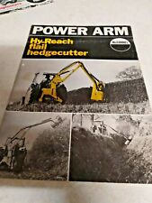 mcconnel hy-reach flail hedgecutter sale brochure 4 page