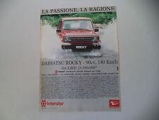 advertising Pubblicità 1988 DAIHATSU ROCKY