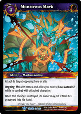WOW WARCRAFT TCG THRONE OF TIDES : MONSTROUS MARK X 4