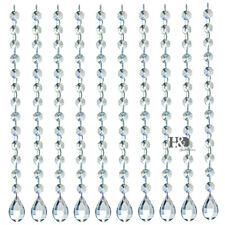 "10x Wedding Crystal Garland Prisms Octagon Bead Chandelier Hanging Decor 12.6"""