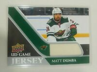 2020-21 Upper Deck Series 1 Matt Dumba UD Game Jersey Minnesota Wild