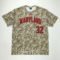 Under Armour Men's L Maryland Terrapins Crew Baseball Jersey Camo UJBJCRM