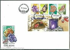 GUINEA BISSAU  2014  MINERALS   SHEET   FIRST DAY COVER