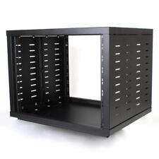 "NEW PA DJ 8RU 19"" Portable Equipment Storage Rack Mount Case.on wheel casters.8u"