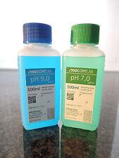 pH Pufferlösung, Set 100ml, pH7 + pH9, Industriequalität, Made in Germany