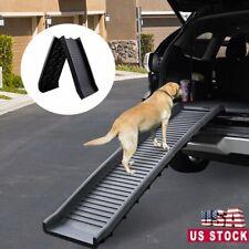 60'' Portable Dog Pet Ramp For Car Truck SUV Travel Ladder Backseat Stair Steps