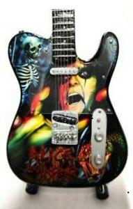 Alice Cooper Miniature Tribute Guitar (UK SELLER)