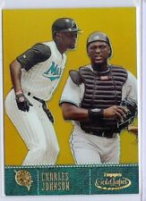 2001 Topps Gold Label 20 Charles Johnson Class 3 gold 35/299 Marlins