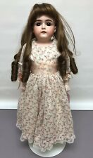 "20"" Antique Kestner Bisque Doll Germany #S Brown Sleep Eye Brunette Kid Body SC2"