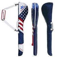 USA Star Design Limited Craftsman Golf Travel Sunday Carry Bag Golf Clubs Holder