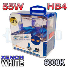 Xenon White HB4 55w Halogen Fog Light Healight Bulbs 6000k (PAIR) 9006