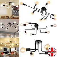 4/6/8 Way Retro Ceiling Light Modern Vintage Industrial Metal E27 Pendant Lamp